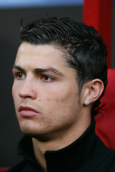Manchester United's Cristiano Ronaldo on the bench