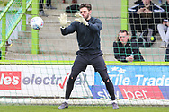 Forest Green Rovers goalkeeper James Montgomery warming up during the EFL Sky Bet League 2 match between Forest Green Rovers and Exeter City at the New Lawn, Forest Green, United Kingdom on 4 May 2019.