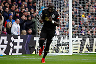 Mohamed Diame of Newcastle United celebrates after scoring his team's first goal. Premier League match, Crystal Palace v Newcastle Uutd at Selhurst Park in London on Sunday 4th February 2018. pic by Steffan Bowen, Andrew Orchard sports photography.
