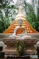 Thai Wat temple Kanchanaburi Province.