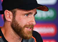 Cricket - 2019 ICC Cricket World Cup - pre-Final practice & press conferences<br /> <br /> New Zealand's Kane Williamson during the press conference, at Lords.<br /> <br /> COLORSPORT/ASHLEY WESTERN