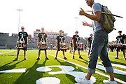 The Oregon Marching Band, collectively known as Shadow Armada, performs in Whitewater, Wisconsin on July 6, 2012.