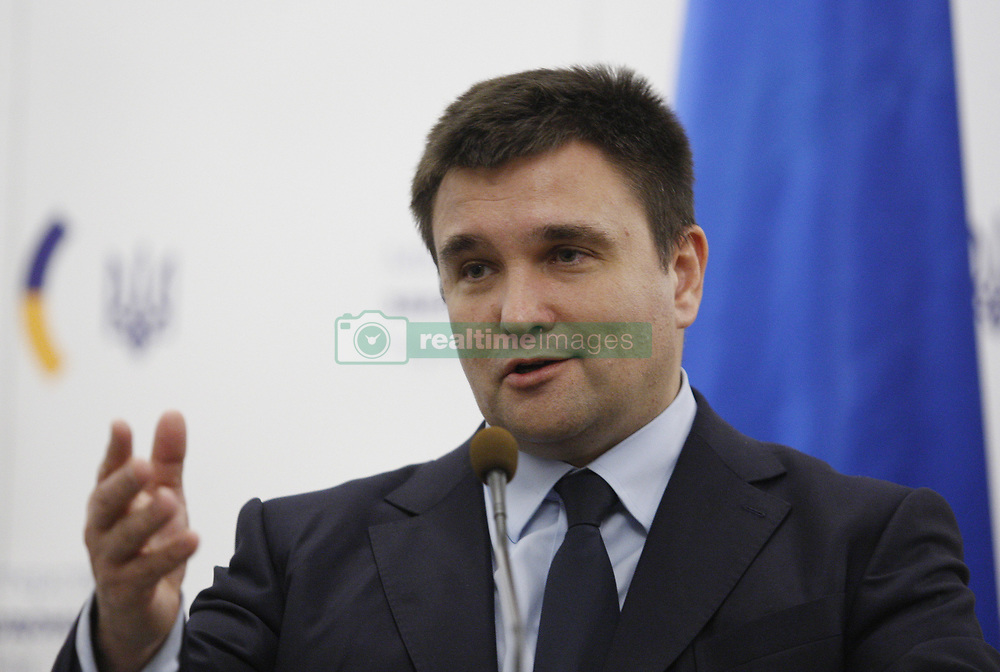 January 30, 2018 - Kiev, Ukraine - Ukrainian Foreign Minister Pavlo Klimkin speaks during a press conference with Italian Foreign Minister Angelino Alfano(not pictured) in Kiev, Ukraine, 30 January 2017. Angelino Alfano arrived to Kiev on 30 January for a two-day working visit. (Credit Image: © Str/NurPhoto via ZUMA Press)
