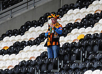 A Hull City fan stands along at the end of the game<br /> <br /> Photographer: Chris Vaughan/CameraSport<br /> <br /> Football - Barclays Premiership - Hull City v Burnley - Saturday 9th May 2015 - Kingston Communications Stadium - Hull<br /> <br /> © CameraSport - 43 Linden Ave. Countesthorpe. Leicester. England. LE8 5PG - Tel: +44 (0) 116 277 4147 - admin@camerasport.com - www.camerasport.com