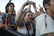 MANCHESTER, TN - JUNE 14: Fans cheer for Snoop Dogg at the 2009 Bonnaroo Music and Arts Festival on June 14, 2009 in Manchester, Tennessee. Photo by Bryan Rinnert/3Sight Photography