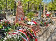 Grobowiec dominikanina ojca Adama Studzińskiego, byłego  kapelana w armii generała Władysława Andersa i uczestnika walk pod Monte Cassino.