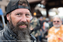 Shane Masters in the Motorcycle Cannonball coast to coast vintage run. Stage 12 (242 miles) from Great Falls to Kalispell, MT. Thursday September 20, 2018. Photography ©2018 Michael Lichter.