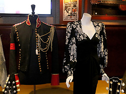 May 13, 2019 - New York City, New York, U.S. - Michael Jackson's jacket and Cher's dress on display at the press preview for the upcoming 'Music Icons' held by Julien's Auctions at the Hard Rock Cafe. (Credit Image: © Nancy Kaszerman/ZUMA Wire)