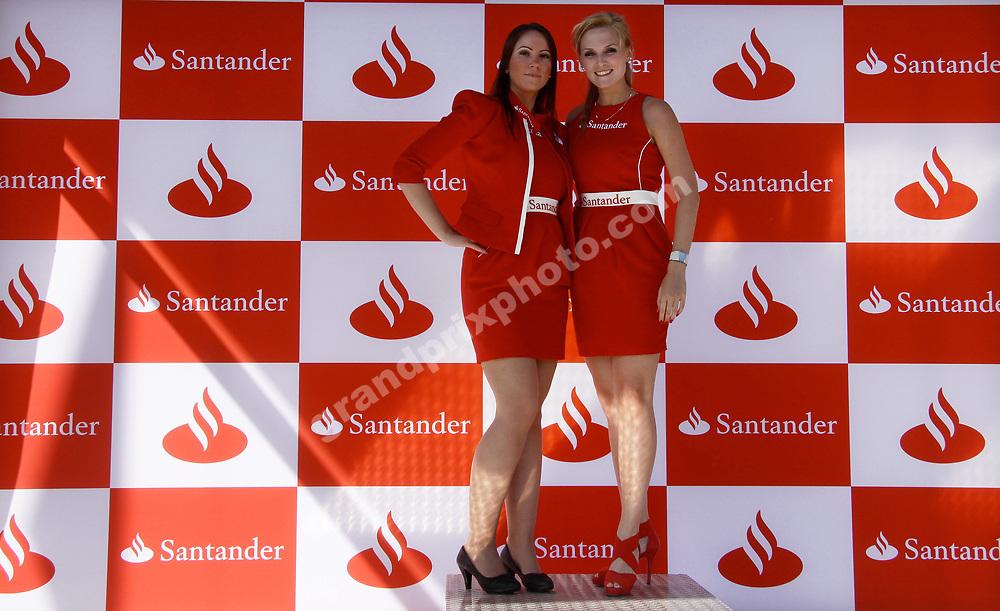 Grid girls/pit babes on podium  at the 2012 German Grand Prix at Hockenheim. Photo: Grand Prix Photo