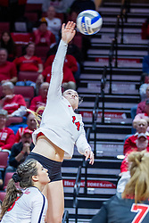 BLOOMINGTON, IL - November 22: Sarah Kushner during a college Women's volleyball match between the ISU Redbirds and the Sycamores of Indiana State on November 22 2019 at Illinois State University in Normal, IL. (Photo by Alan Look)