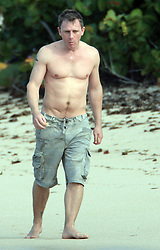 """File picture of Daniel Craig enjoying St Barts lifestyle. The island was a paradise until September 6, 2017. Hurricane Irma left a trail of """"absolute devastation"""", destroying houses, snapping trees and killing at least eight persons as it tore across the tiny Caribbean island of St Barts on Wednesday with 185-mile-per-hour winds. Photo by Papixs/ABACAPRESS.COM"""
