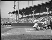 """Lucky Beavers opening game. April 16, 1947"" Beavers vs. San Francisco Seals at Vaughn St. Stadium. """