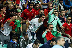 LJUBLJANA, SLOVENIA - JUNE 06: Supporters of Portugal during the 2021 UEFA European Under-21 Championship Final match between Germany and Portugal at Stadion Stozice on June 06, 2021 in Ljubljana, Slovenia. Photo by Grega Valancic / Sportida