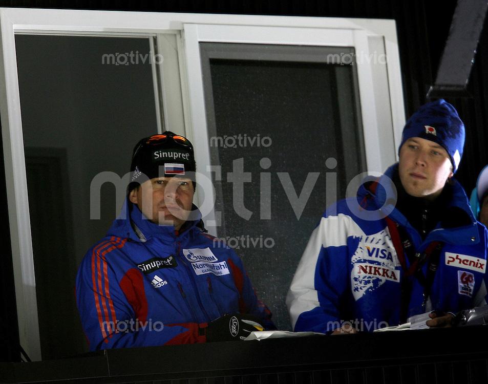 Sapporo , 020307 , Nordische Ski Weltmeisterschaft  Skispringen Kleinschanze Qualifikation , Trainer Wolfgang STEIERT (RUS)