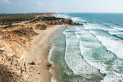 Mediterranean Sea-shore sandy beach nature reserve, Israel