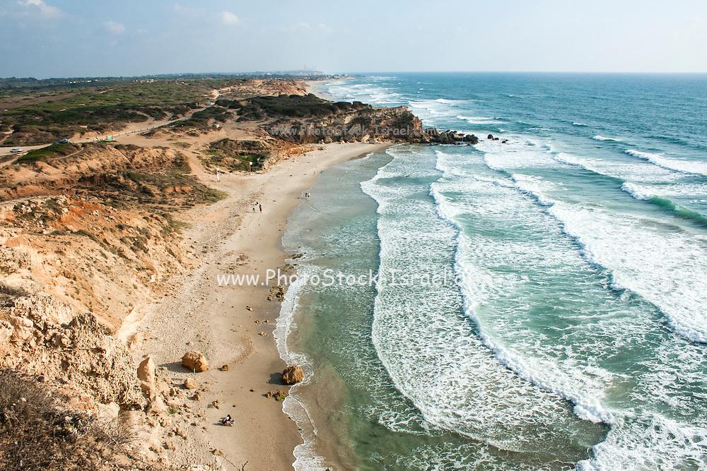 Mediterranean Sea-shore sandy beach nature reserve, Israel