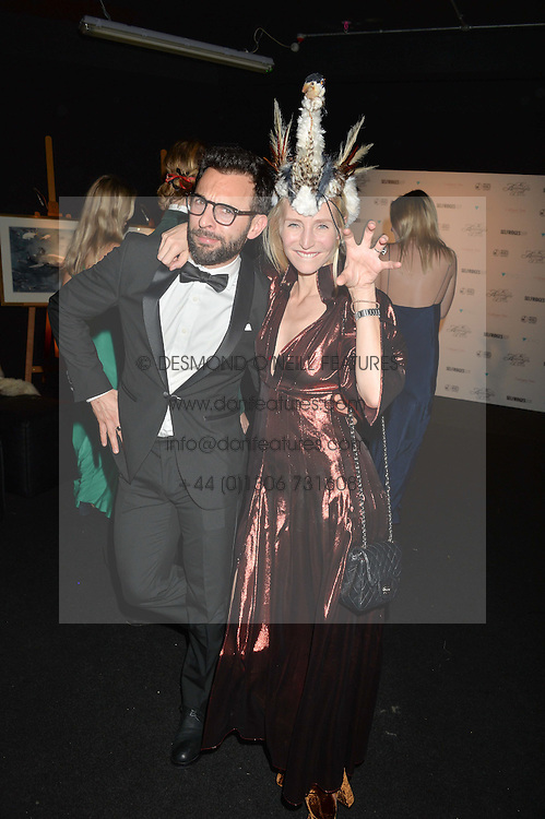 RUTH POWYS and FRANCESCO FILIZZOLA at The Animal Ball presented by Elephant Family held at Victoria House, Bloomsbury Square, London on 22nd November 2016.