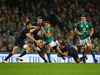 Rugby Union - 2017 Guinness Series (Autumn Internationals) - Ireland vs. Argentina<br /> <br /> Ireland's Adam Byrne in action against Argentina's Tomas Lezana and Santiago Garcia Botta, at the Aviva Stadium.<br /> <br /> COLORSPORT/KEN SUTTON