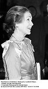 Marchioness of Salisbury. Book party. Lambeth Palace, London. 24/3/88. Film 88222f36<br />© Copyright Photograph by Dafydd Jones<br />66 Stockwell Park Rd. London SW9 0DA<br />Tel 0171 733 0108