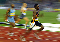 Photograph: Scott Heavey.<br />IAAf Super Grand Prix. Norwich Union London Athletics meeting from Crystal Palace. 08/08/2003.<br />Malcolm Christie wins the 200m