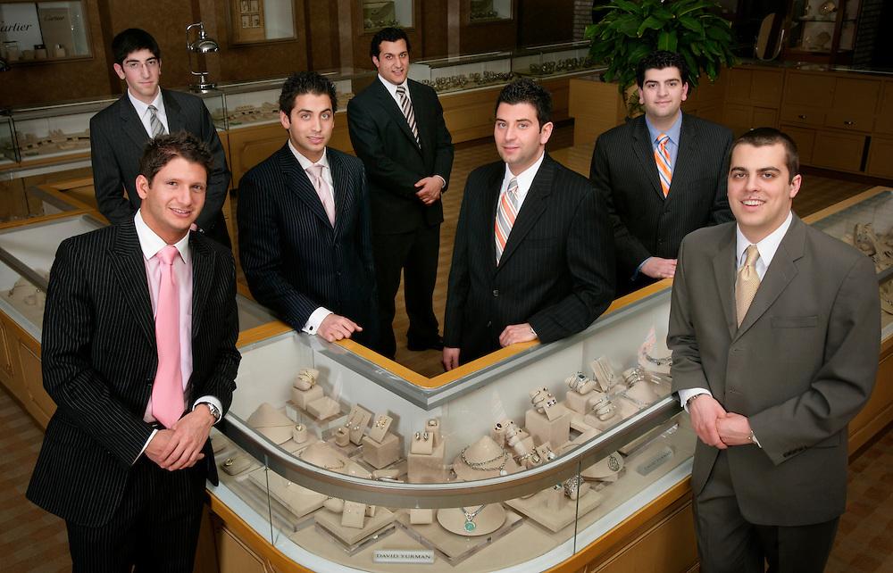 From left: Andre Ahee (top),  Anthony Ahee, Christopher Ahee, Jonathan Thomas, Eddie Ahee, Niko Ahee and Lowell Ahee, Jr..