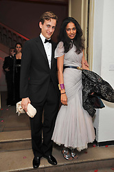 BLAISE GUERRAND-HERMES and SOLONI LODHA at the Royal Rajasthan Gala 2009 benefiting the Indian Head Injury Foundation held at The Banqueting House, Whitehall, London on 9th November 2009.