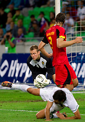 Simon Mignolet, goalkeeper of Belgium during friendly football match between National teams of Slovenia and Belgium, on August 10, 2011, in SRC Stozice, Ljubljana, Slovenia. (Photo by Vid Ponikvar / Sportida)