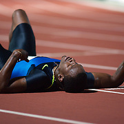 Xavier Carter, USA, after finishing second in the Men's 400m event at the Sydney Track Classic 2009 held at Sydney Olympic Park Athletics Centre, Sydney, Australia on February 28, 2009.  Photo Tim Clayton