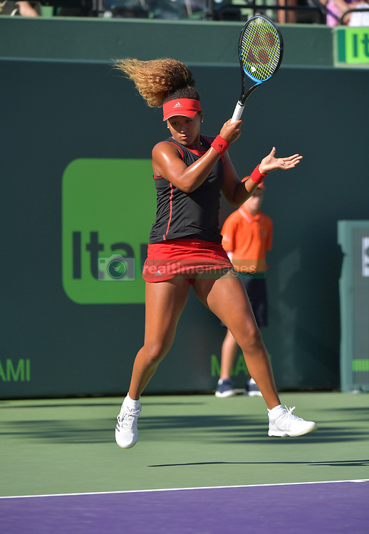 March 21, 2018 - Key Biscayne, Florida, United States Of America - KEY BISCAYNE, FL - MARCH 21: Naomi Osaka of Japan defeats Serena Williams of the United States during the Miami Open Presented by Itau at Crandon Park Tennis Center on March 21, 2018 in Key Biscayne, Florida. ...People:  Naomi Osaka. (Credit Image: © SMG via ZUMA Wire)
