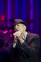 Dec. 4, 2012 - Toronto, ONTARIO, CANADA - Leonard Cohen perfoms at the Air Canada centre on. December 4, 2012.CARLOS OSORIO/TORONTO STAR. 20121205; ONT; News; A1 -- Leonard Cohen, 78, performs during the first of a two-night stay  in Toronto last night. Read Ben Rayner's review at thestar.com.  carlos osorio/TORONTO STAR (Credit Image: © The Toronto Star/ZUMAPRESS.com)