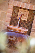 Clay Pot Water Fountain With Copper Pipe Spicket