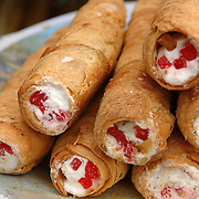 Sweet cream rolls near UPSC building in New Delhi, India