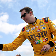 Race car driver Kyle Busch is seen during driver introductions prior to the 58th Annual NASCAR Daytona 500 auto race at Daytona International Speedway on Sunday, February 21, 2016 in Daytona Beach, Florida.  (Alex Menendez via AP)