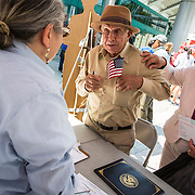 Jesus Ramirez, 90 yrs old, became a citizen on May 18, 2016 in Los Angeles. He immediately registered as a Democrat and plans to vote in the 2016 election.