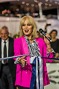 Joanna Lumley opens the Sunseeker stand alond with singing quartet Jack Black - The London Boat Show opens at the Excel centre. London 06 Jan 2017 Joanna Lumley opens the Sunseeker stand alond with singing quartet Jack Pack - The London Boat Show opens at the Excel centre. London 06 Jan 2017