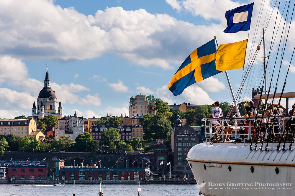 Sweden, Stockholm. The af Chapman, a full-rigged steel ship.