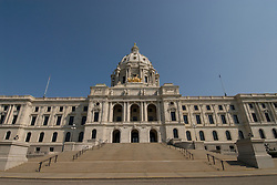 Minnesota, Twin Cities, Minneapolis-Saint Paul: The State Capitol Building in St. Paul, a large dome made of white marble..Photo mnqual311-75041..Photo copyright Lee Foster, www.fostertravel.com, 510-549-2202, lee@fostertravel.com.
