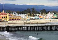 Boardwalk and wharf, Santa Cruz, California