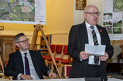 Pictured: Derek Mackay listens to David Dodds from West Lothian Council<br /> <br />  Finance Secretary Derek Mackay headed to Winchburgh today to meet developers of new 3,450-home village. As well as the new homes, schools and other associated infrastructure will be built at Winchburgh. Derek Mackay met Sir Tom Hunter and Local MSP, Fiona Hyslop, the developers and West Lothian Council officials.<br /> <br /> Ger Harley | EEm 17 January 2019