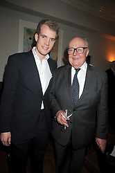 Left to right, FRANCOIS O'NEILL and his father HUGH O'NEILL (Lord Rathcavan) at the opening of the Brompton Bar & Grill, 243 Brompton Road, London SW3 on 11th March 2009.