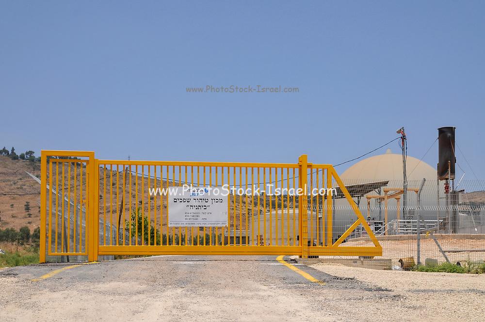 Israel, Galilee, Bitnya sewage treatment plant south of the Sea of Galilee