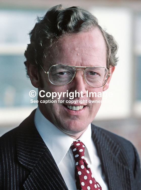 Rev Robert Bradford, MP, South Belfast, Ulster Unionist, Westminster, UK, 198010000331b.<br /> <br /> Copyright Image from Victor Patterson, Belfast, UK<br /> <br /> t: +44 28 9066 1296 (from Rep of Ireland 048 9066 1296)<br /> m: +44 7802 353836<br /> e: victorpattersonbelfast@gmail.com<br /> <br /> www.images4media.com<br /> <br /> Please see my full Terms and Conditions of Use at https://www.images4media.com/p/terms-conditions - it is IMPORTANT that you familiarise yourself with them.<br /> <br /> Images used online incur an additional cost. This cost should be agreed in writing in advance. Online images must be visibly watermarked i.e. © Victor Patterson or that of the named photographer within the body of the image. The original metadata must not be deleted from images used online.<br /> <br /> This image is only available for the use of the download recipient i.e. television station, newspaper, magazine, book publisher, etc, and must not be passed on to a third party. It is also downloaded on condition that each and every usage is notified within 7 days to victorpattersonbelfast@gmail.com.<br /> <br /> The right of Victor Patterson (or the named photographer) to be identified as the author is asserted in accordance with The Copyright Designs And Patents Act (1988). All moral rights are asserted.