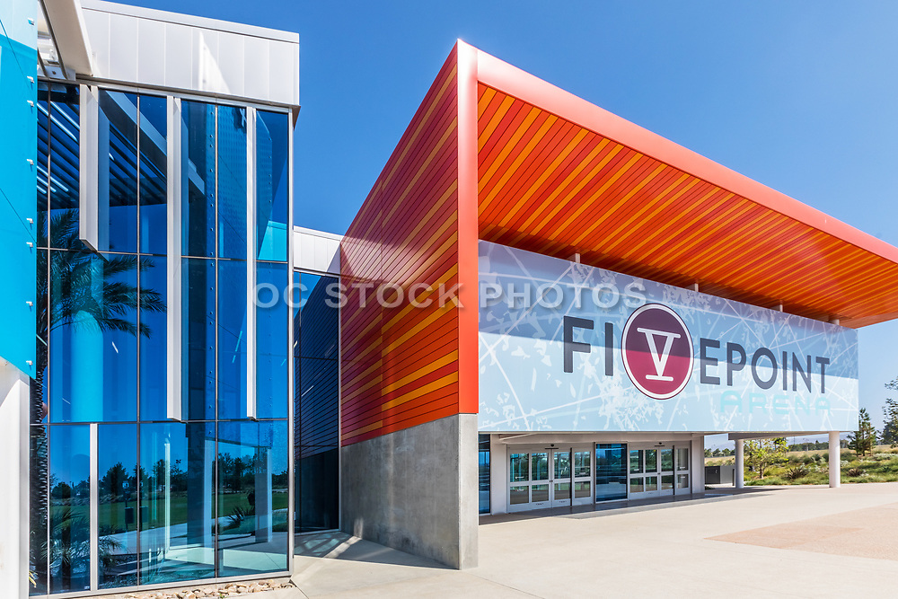 Outside the Front Entrance to Fivepoint Arena