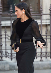 © Licensed to London News Pictures. 25/09/2018. Meghan, Duchess of Sussex arrives to attend the Royal Academy of Arts Oceania exhibition, UK. Photo credit: Ray Tang/LNP