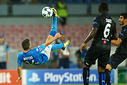 August 16, 2017 - Naples, Campania, Italy - Dries Mertens of Napoli in action  during the UEFA Champions League Play Off first leg football match SSC Napoli vs OCG Nice, on August 16 2017 at the San Paolo Stadium. (Credit Image: © Matteo Ciambelli/NurPhoto via ZUMA Press)