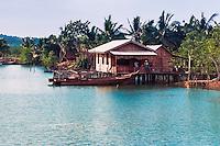 Riau Islands, Bintan. A local bulding in Kijang, just south of the airport.