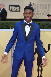January 20, 2018 - Los Angeles, California, U.S. - NILES FITCH during red carpet arrivals for the 24th Annual Screen Actors Guild Awards, held at The Shrine Expo Hall. (Credit Image: © Kevin Sullivan via ZUMA Wire)