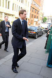 HRH PRINCE WILLIAM arriving at a party for the Royal Marsden Hospital held at the Chelsea Gardener, Sydney Street, London on 6th May 2008.<br /><br />NON EXCLUSIVE - WORLD RIGHTS