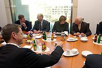 12 NOV 2003, BERLIN/GERMANY:<br /> Christian Wulff, CDU, Ministerpraesident Niedersachsen, Laurenz Meyer, CDU Generalsekretaer, Angela Merkel, CDU Bundesvorsitzende, Edmund Stoiber, CSU, Ministerpraesidnet Bayern, (Hinten, v.L.n.R.) und Guido Westerwelle (vorne), FDP Bundesvorsitzender, vor Beginn eines Spitzentreffens von Politiker der CDU/CSU und der FDP, axica Kongress- und Tagungszentrum<br /> IMAGE: 20031112-01-006<br /> KEYWORDS: Opposition, Spitzengespraech,