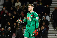 Mark Travers (42) of AFC Bournemouth during the The FA Cup match between Bournemouth and Arsenal at the Vitality Stadium, Bournemouth, England on 27 January 2020.